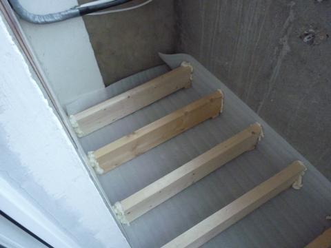 Поднять пол на балконе видео